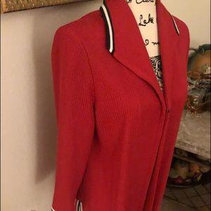 Ming Wang  red blazer